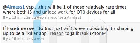 musclenerd tweet Jailbreak News   MuscleNerd : Les problèmes de FaceTime enfin résolus