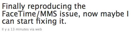 oldfacetimemms1 Jailbreak News   JailbreakMe : Comex à trouvé le problème de facetime et MMS