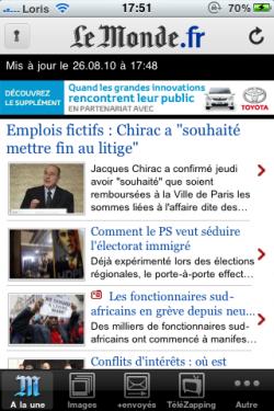 photo 211 250x375 AppStore   Lapplication Le Monde se met à jour en version 2.9 : compatible iPhone 4
