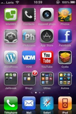 photo 23 250x375 Thèmes   Présentation du thème iPhone 3GS de Loris1634 [EDIT]