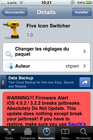 photo 25 Cydia   Five Icon Switcher : affichez 5 icônes dans la barre multitâche