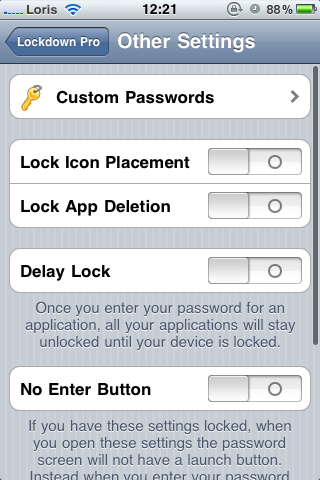 photo 4 Cydia   LockDown Pro : protégez vos applications avec un mot de passe