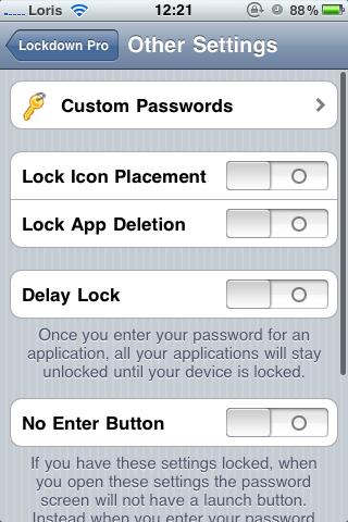 photo 4 Cydia   LockDown Pro : protégez vos applications avec un mot de passe