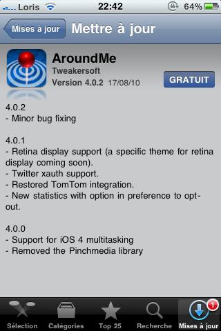photo12 AppStore   AroundMe passe en version 4.0.2