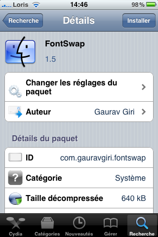 photo14 Cydia   FontSwap : compatible iOS 4 / iPhone 4 pour bientôt...