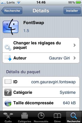photo14 Cydia   FontSwap : compatible iOS 4 / iPhone 4 pour bientôt...