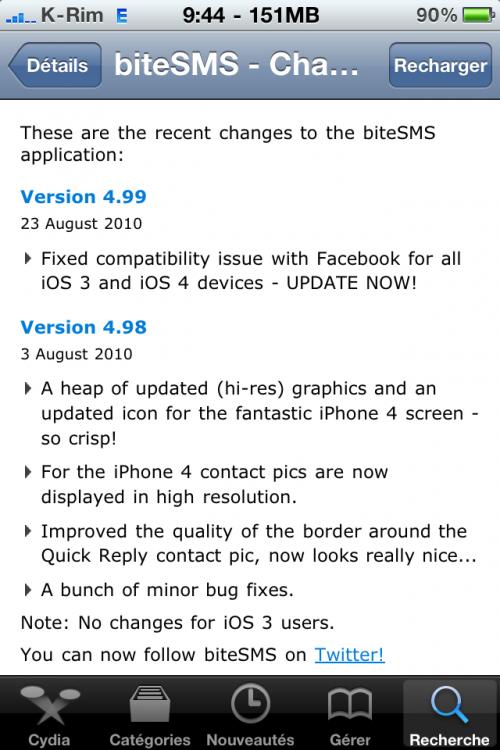 photo17 500x750 AppStore / Cydia   FaceBook mis à jour en 3.2.2 et biteSMS en 4.99 afin de régler les problèmes de connexion