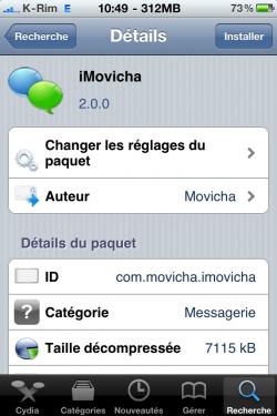 photo18 250x375 Cydia   iMoviCha : Chat vidéo entre iPhone, PC, MAC, Android ...