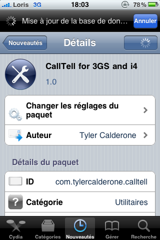 photo19 Cydia   CallTell for iPhone 3GS et iPhone 4