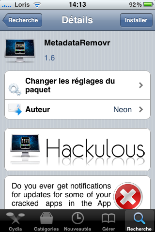 photo2 Cydia   MetadataRemovr : Faites oubliez à lAppStore vos applications crackées