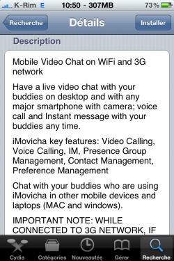 photo23 250x375 Cydia   iMoviCha : Chat vidéo entre iPhone, PC, MAC, Android ...