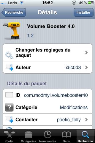photo25 Cydia   Volume Booster 4.0 passe à la version 1.2