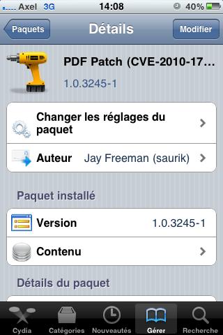 photo3 Cydia   Mise à jour de PDF Patch : le patch de sécurité pour Safari