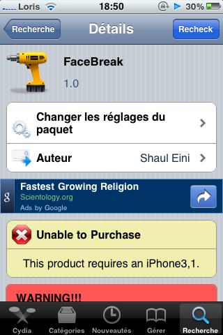 photo6 Cydia   FaceBreak : Passez des appels FaceTime en 3G