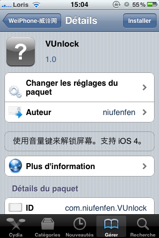 photo9 Cydia – VUnlock : déverrouillez votre appareil avec les boutons de volume