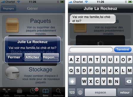 quickreply11 Source iPhone3GSystem   Ajout de Quick Reply SMS compatible iOS 4 cracké