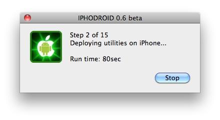 runtimeiphdroid Tutoriel   iPhoDroid 0.6 bêta R12 : installez Android Froyo 2.2 sur iPhone 3G