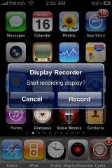 scre Cydia   Mise à jour de Display Recorder en version 1.1 : compatible iOS 4