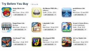 try AppStore   Nouvelle section sur lAppStore : Try Before You Buy
