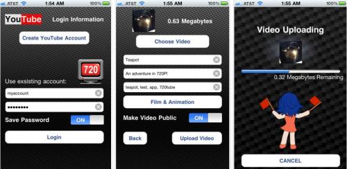 tube AppStore   720Tube : une application pour uploader vos vidéos en 720p depuis liPhone 4