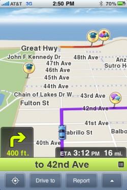 14 250x375 AppStore   Waze 2.0.1 : Un navigateur GPS social et gratuit