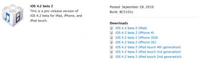 17 News   iOS 4.2 bêta 2 disponible pour les développeurs