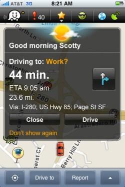 32 250x375 AppStore   Waze 2.0.1 : Un navigateur GPS social et gratuit