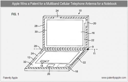 6a0120a5580826970c0133f4aaad3e970b1 500x322 News   Brevet Apple : Un Macbook Pro avec une Antenne 3G