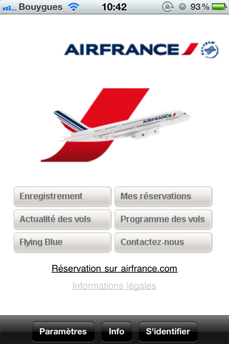AirFrance first AppStore   Air France Mobile : Air France sur iPhone
