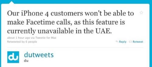 Capture d'écran 2010 09 25 à 14.13.02 500x221 News   Confirmation : Pas de FaceTime dans certaines parties du Moyen Orient