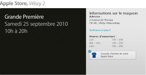 Capture d'écran 2010 09 21 à 18.49.57 500x257 News   Ouverture d'un Apple Store à Velizy 2