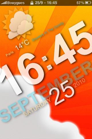 IMG 0103 Cydia   Slanted Lock : Un magnifique LockScreen pour votre appareil