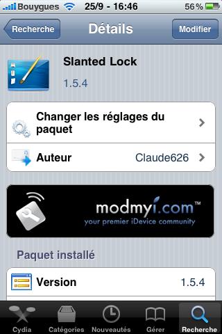 IMG 0106 Cydia   Slanted Lock : Un magnifique LockScreen pour votre appareil