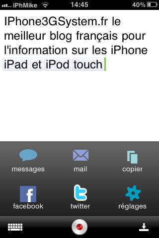 IMG 01351 Appstore   Dragon dictation, écrivez vos SMS en les dictants à votre iPhone