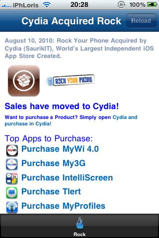 IMG 0885 Cydia   Rock Your Phone publie une dernière mise à jour de Rock