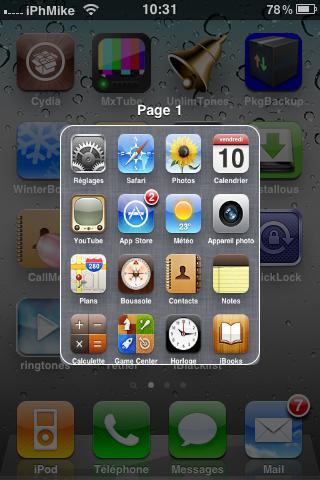 Picture 001 Cydia   PagePreview 1.1.1 : Prévisualiser les pages de la SpringBoard