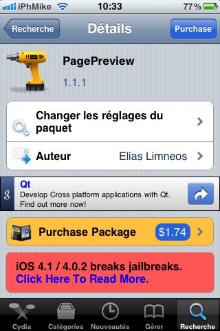 Picture 003 Cydia   PagePreview 1.1.1 : Prévisualiser les pages de la SpringBoard