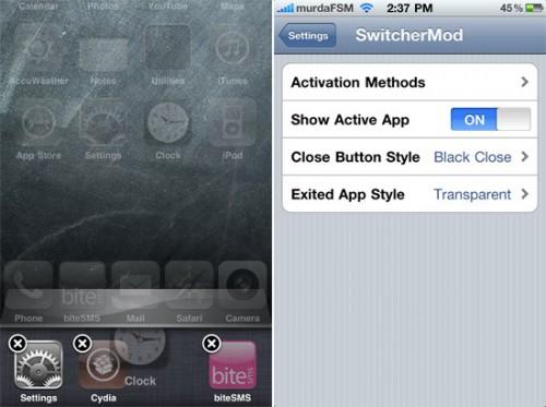 SwitcherMod 1 500x373 Cydia   SwitcherMod : Ajoutez des options à la barre de multitâche