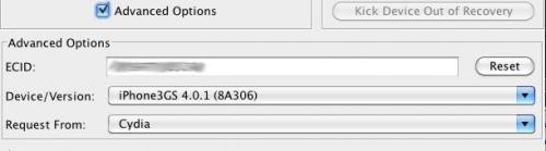 Tiny Umbrella Advanced Options Screenshot1 500x139 Tutoriel   Comment upgrader son appareil du firmware 3.x au firmware 4.0 / 4.0.1