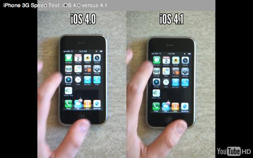 co Vidéo   Vidéo comparative entre iPhone 3G 4.0 et iPhone 3G 4.1