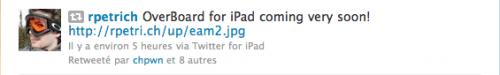 e 500x75 Cydia   OverBoard bientôt compatible iPad
