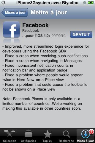 AppStore: Mise à jour de l'application Facebook ! dans AppStore facebook-3.2.3
