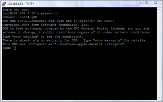 gdb Tutoriel   Avoir MCleaner cracké sur son iPhone 3G/3GS/4 en 4.x