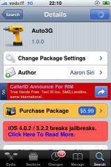 img 0345 Cydia   Mise à jour de Auto3G en version 1.3
