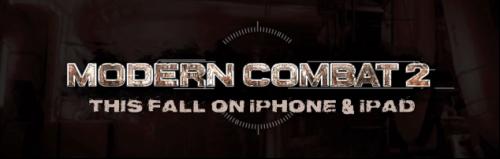 modern 1 500x159 AppStore   Modern Combat 2 : Black Pegasus pour bientôt !