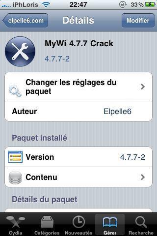 Cydia – MyWi 4.7.7 cracké disponible et compatible iOS 4
