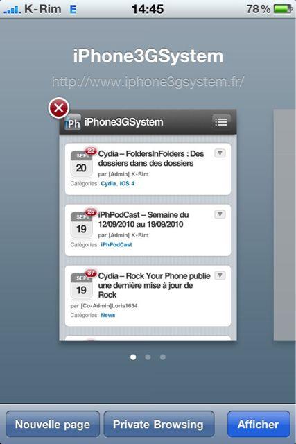 Cydia   Covert : Navigation privée sur Safari Mobile
