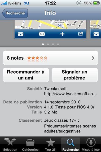 AppStore   AroundMe : Mise à jour avec support de Retina