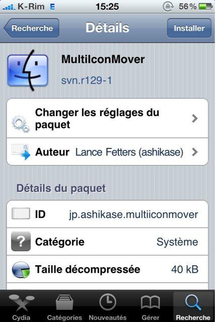 Cydia   MultiIconMover : Mis à jour en version svn.r129 1 compatible iOS 4
