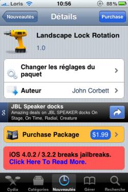 photo 1 250x375 Cydia   Landscape Lock Rotation : bloquez la rotation de votre appareil aussi en mode paysage !